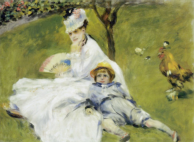 Renoir: Camille Monet and her son Jean in the garden at Argenteuil (1874)