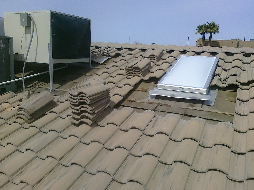 Working on the #roof repair today. Adding flashing under t… | Flickr