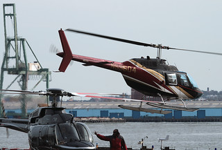 BELL 206 (Bell 206B) Jet Ranger, N59604, at JRB (Downtown Wall Street Heliport), New York, USA. March 2010
