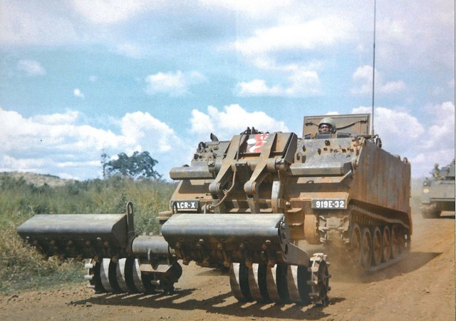M113 sweeper 919th engineer company Red Devils