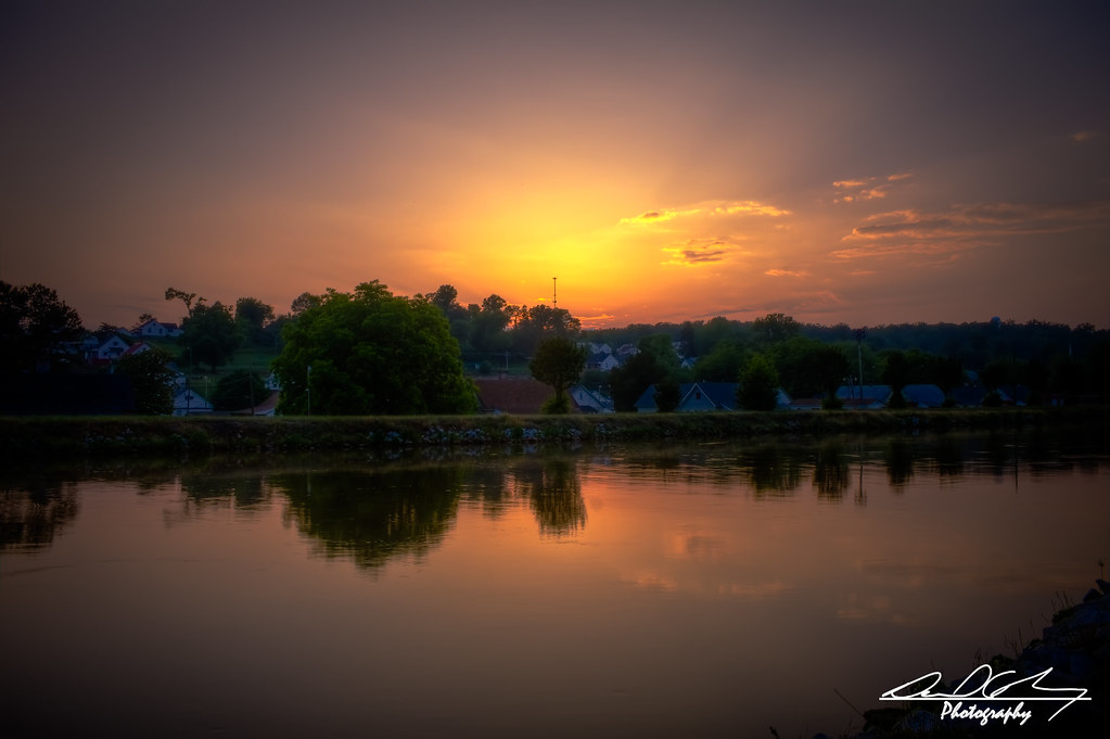 Warm Sunset On The River by Dan Cselinacz Photography