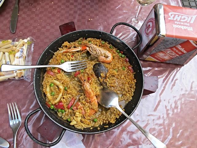 Seafood paella, Cadiz, Spain