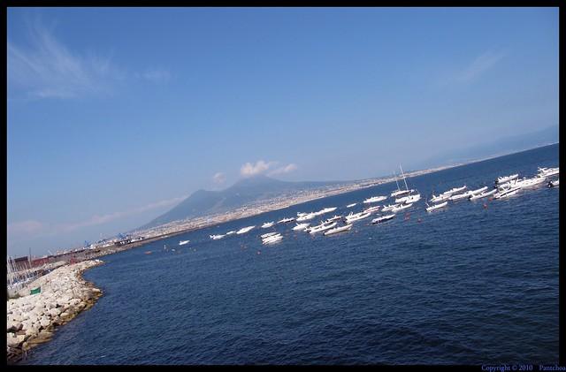 Vesuvius and sea : Naples