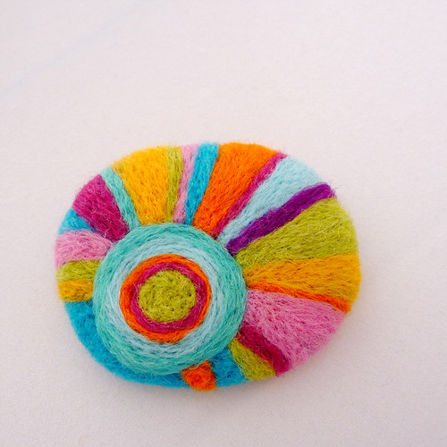 Autumn Sun felted brooch | by gypsy colours