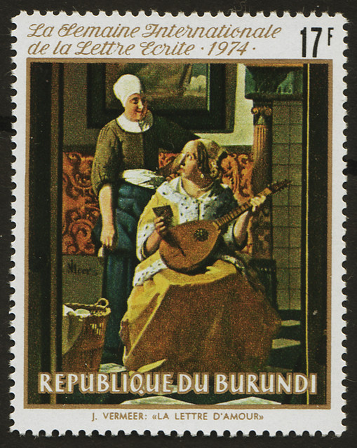 【Vermeer's letter stamp】ブルンジ1974/10 471