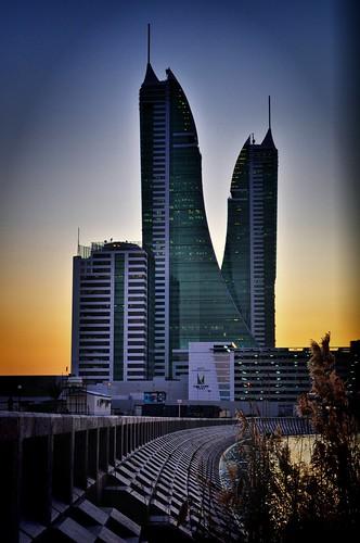 sunset building bahrain nikon harbour financial manama d5000 fotocompetition fotocompetitionbronze