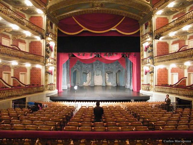 Palco - Teatro da Paz (7 Maravilhas Brasil) - Belém do Pará