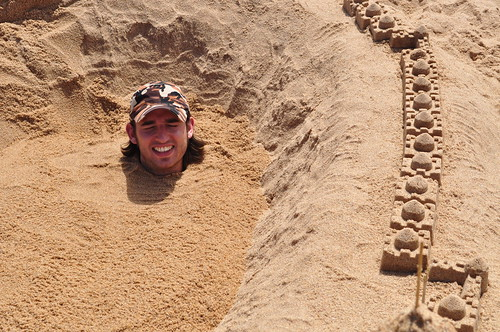 Me Buried in a Sand Castle on Ballito Beach | by Jammy C
