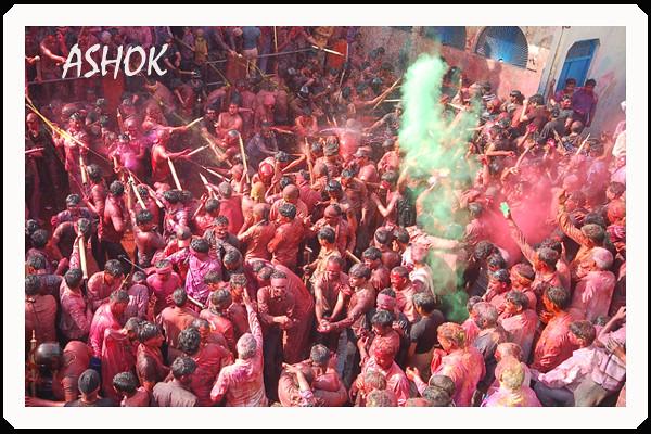 colourful holi in banchari [haryana]