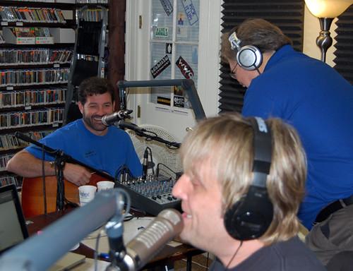 Tab Benoit in the studio