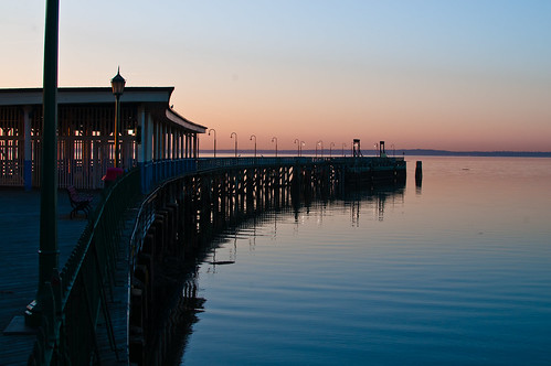 park usa newyork nature water architecture sunrise reflections pier rye boardwalk amusementpark playland westchester d300