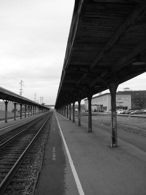 Long lonely platform