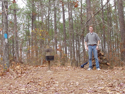 Me at the summit of Driskill Mountain, on top of Louisiana!
