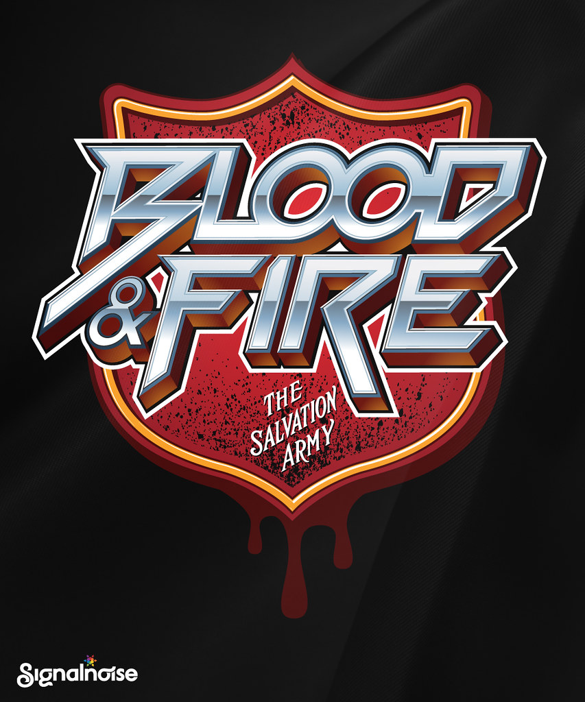 45644fa2c Salvation Army 'Blood & Fire' t-shirt | Here is a t-shirt de… | Flickr