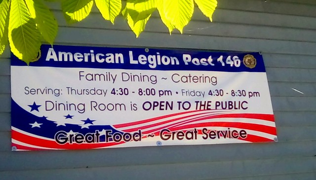 American Legion sign - SS
