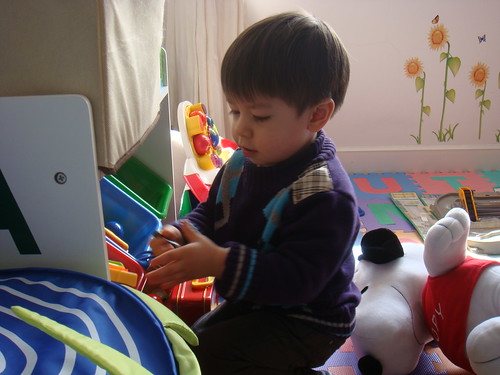 Scott in the playroom