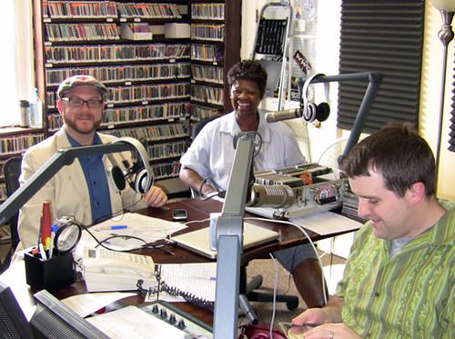 Andrew Ward, Irma Thomas, and 'OZ host Sherwood Collins