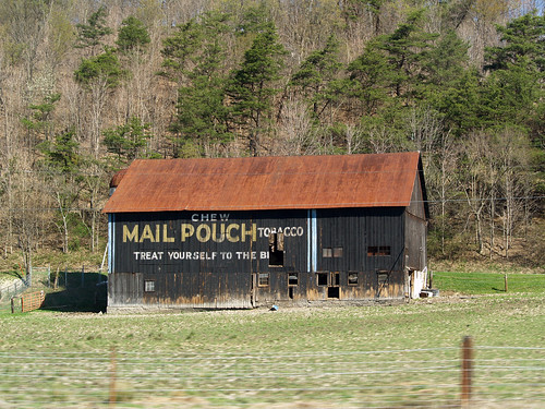 Mail Pouch Tobacco Barn   Located somewhere between