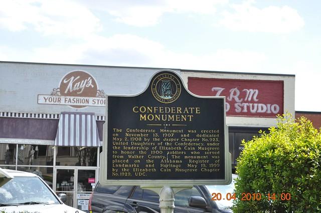 Confederate Marker Walker County, Jasper, Al C.S.A.