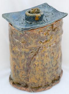 Handmade ceramic jar