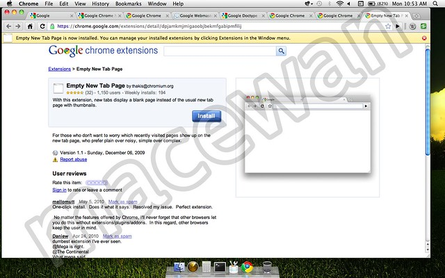 Google Chrome New Page Tab extension | Google Chrome New Pag