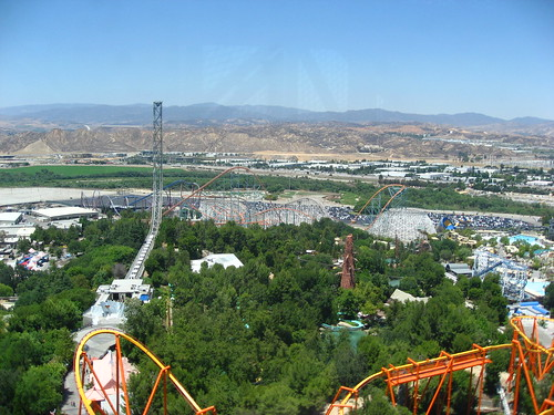 Six Flags Magic Mountain - Aerial | by SpokkerJones