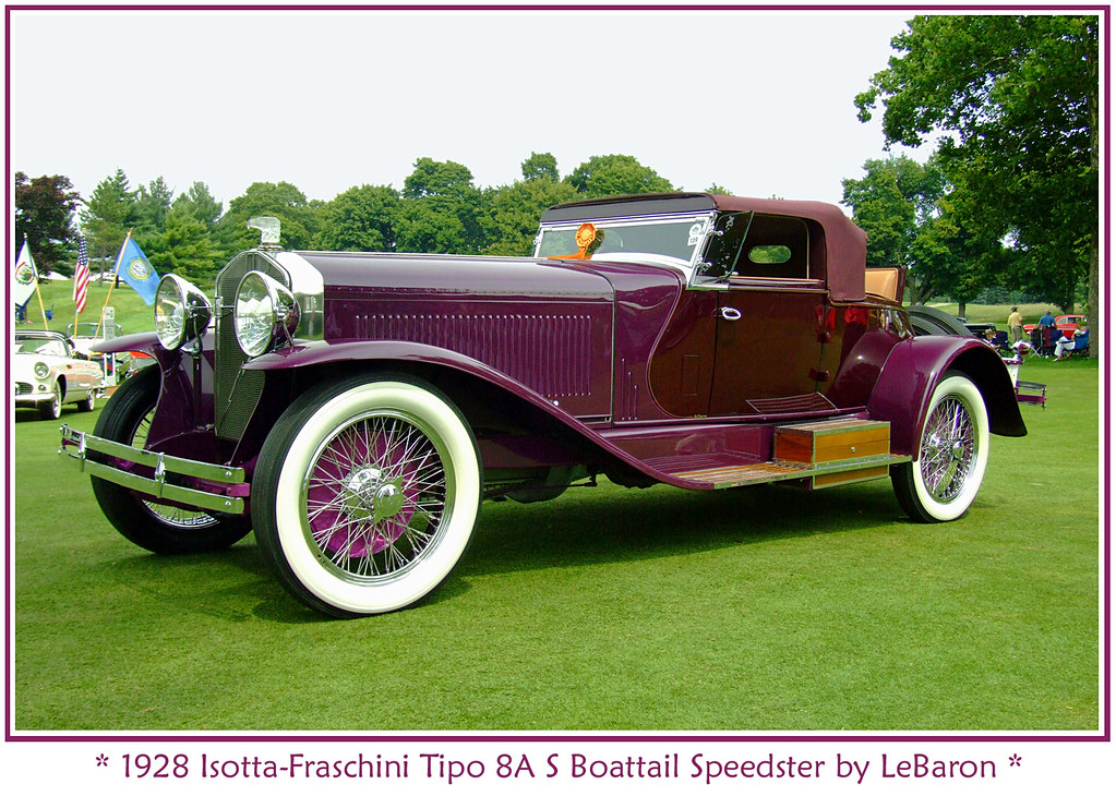 1928 Isotta-Fraschini Tipo 8A S Boattail Speedster
