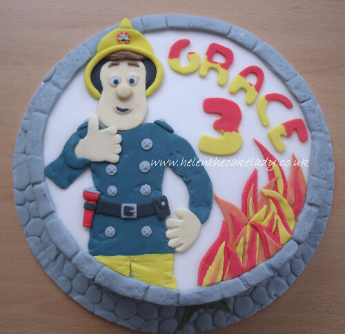 Fine Fireman Sam Birthday Cake This Cake Was The 1St Of My Daug Flickr Funny Birthday Cards Online Elaedamsfinfo
