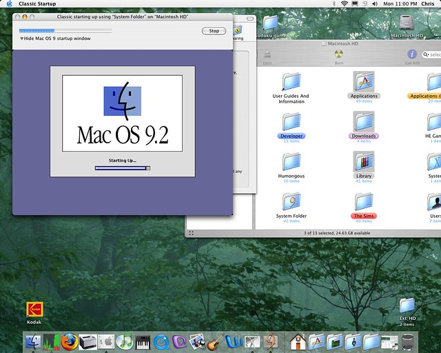 OS 9 startup in 10 3 | OS 9 emulator for 10 3 (It was part o