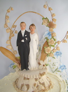 vintage wedding cake topper | by PaperFlora