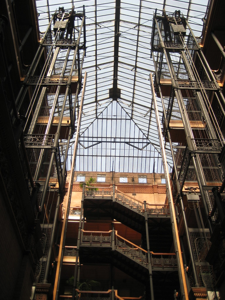 The Skylight at the Bradbury Building | Inside view of the B… | Flickr