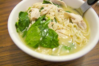 Asian Chicken-and-Spinach Soup | by baba lu
