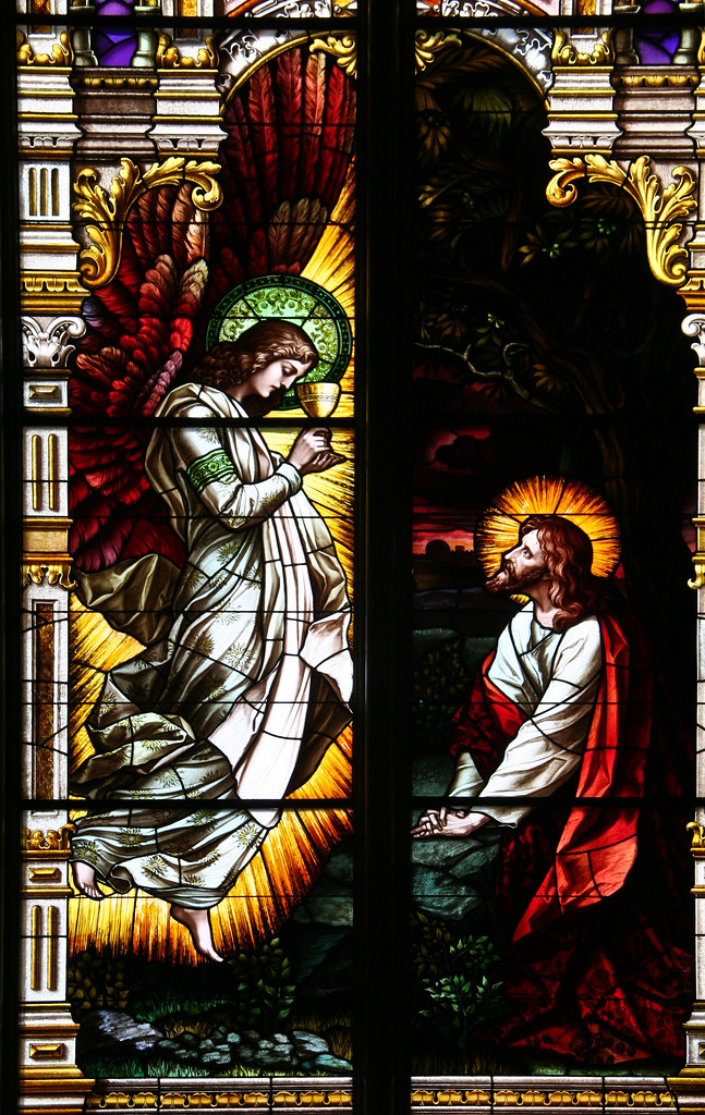About It >> Angel Comforts Christ in the Garden of Gethsemane, St. Jos