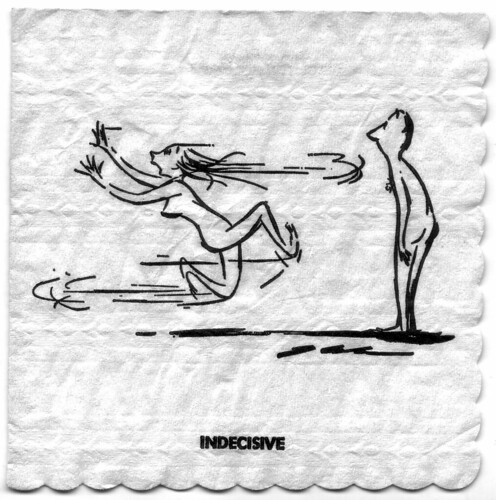 "Jack Cole ""Females"" Playboy Napkin - Indecisive 