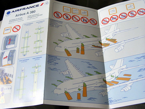 Air France Airbus A380 safety card | by slasher-fun