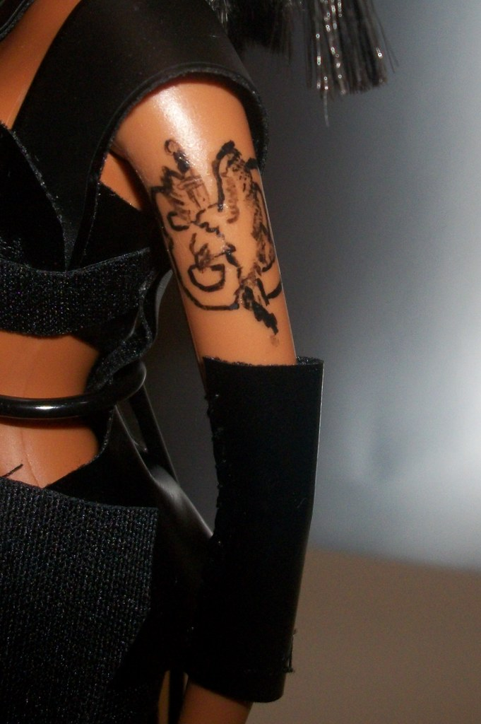 Ooak Tlc Left Eye Barbie Doll The Tattoo That Symbolizes F