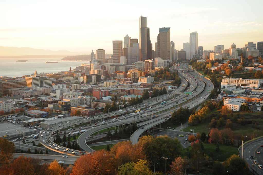 The city of Seattle, Washington in the fall, from amazon.c… | Flickr