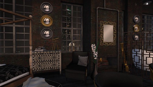 4 Seasons of Bedrooms: Winter Noir (Winter) | by Hidden Gems in Second Life (Interior Designer)