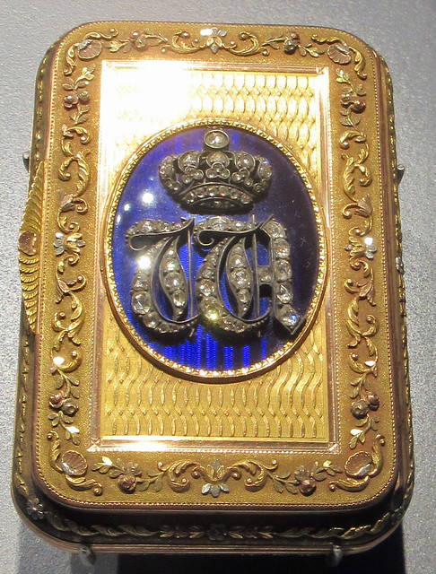 Tabatière (tobacco case) of Tsar Alexandre 1st - gold and diamonds