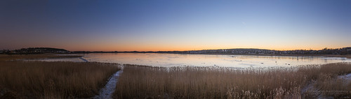 11photosstiched kilennaturereserve amazingsunset bay color panorama sunset kilen