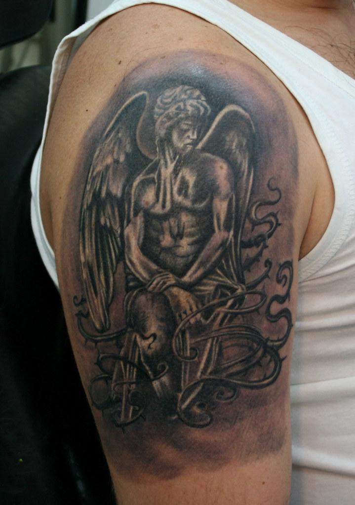 Renaissance angel tattoo by DRAGON TATTOO STUDIO | DRAGON TATTOO ...