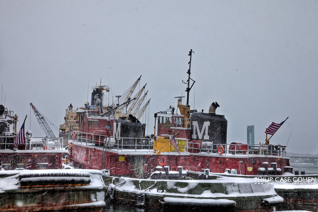 Moran Towing | Portsmouth Tugboats in the Snow by Philip Case Cohen