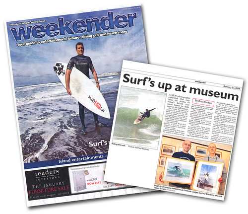 Weekender, Isle of Wight County Press. Surf's up at Dimbola | by s0ulsurfing