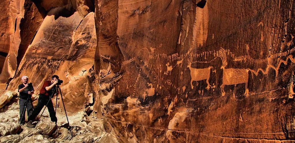 Rock art panel near Bluff, Utah by Red Dirt Dawg