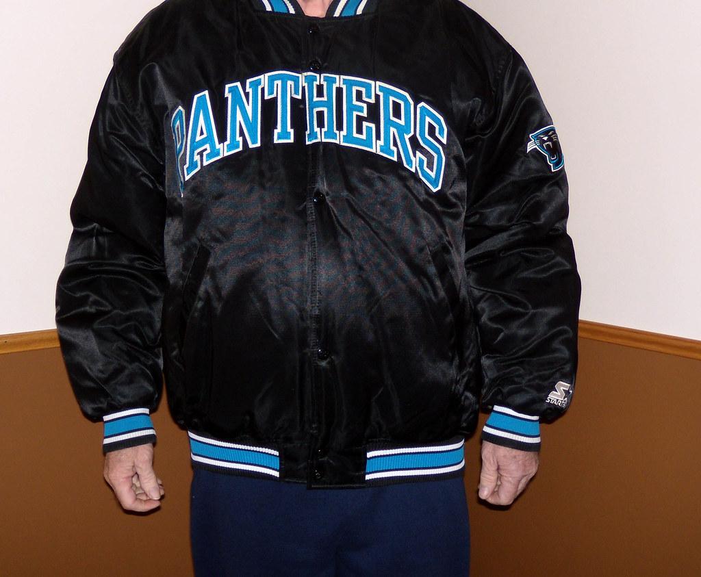 official photos 7a481 76f8d Carolina Panthers Starter Satin Jacket | Fred Mumaugh | Flickr