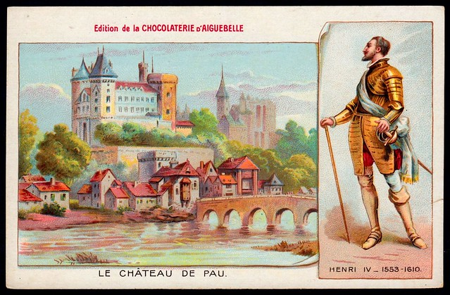French Tradecard - Chateau De Pau