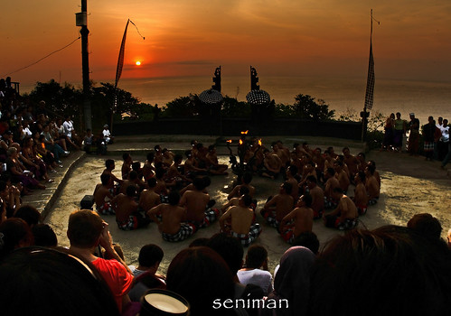 KECAK DANCE DURING SUNSET IN ULU WATU BALI | by SeniMAN57