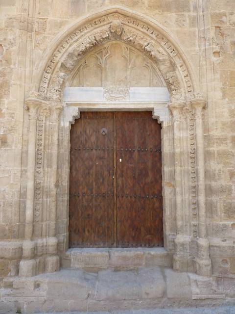 One of the northern doors with relief of Virgin Mary's death