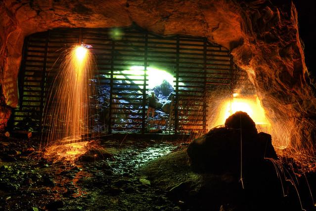 Big Bone Cave gate removal, Big Bone SNA, Van Buren Co, TN