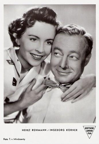 Heinz Rühmann and Ingeborg Körner in Keine Angst vor großen Tieren (1953)